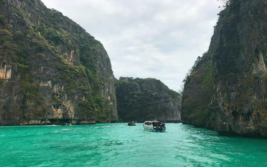 Visiting Phi Phi Island is one of the most fun things to do in Phuket with kids