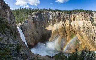 waterfall in Yellowstone