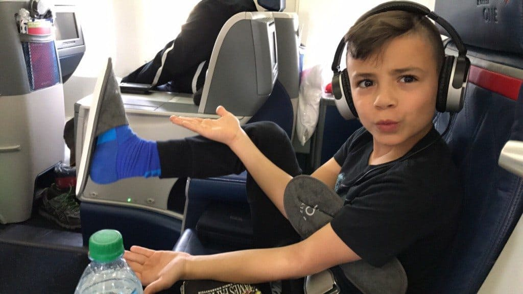 Flying overseas with kids