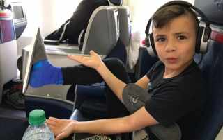 flying internationally with kids