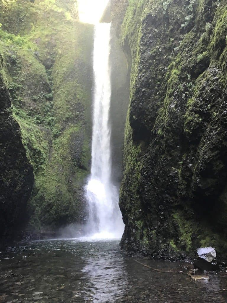 Oneonta Gorge waterfall