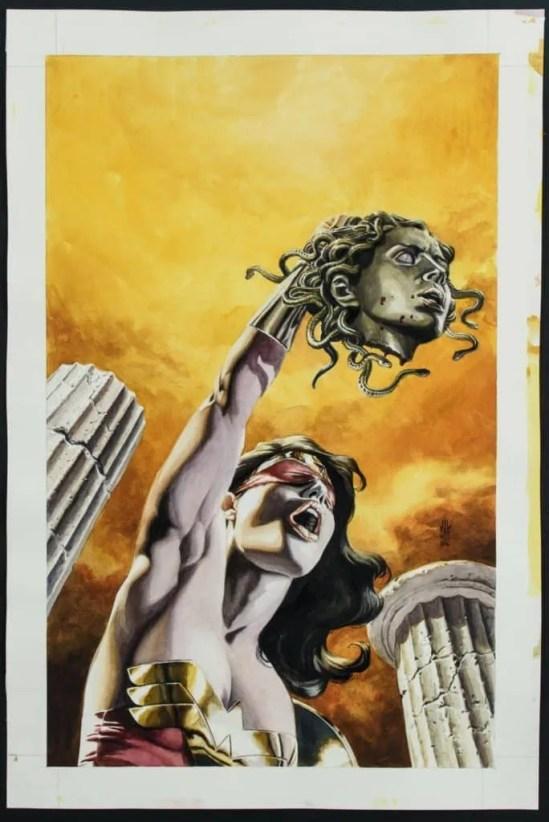 Wonder Women cutting off Medusa's Head