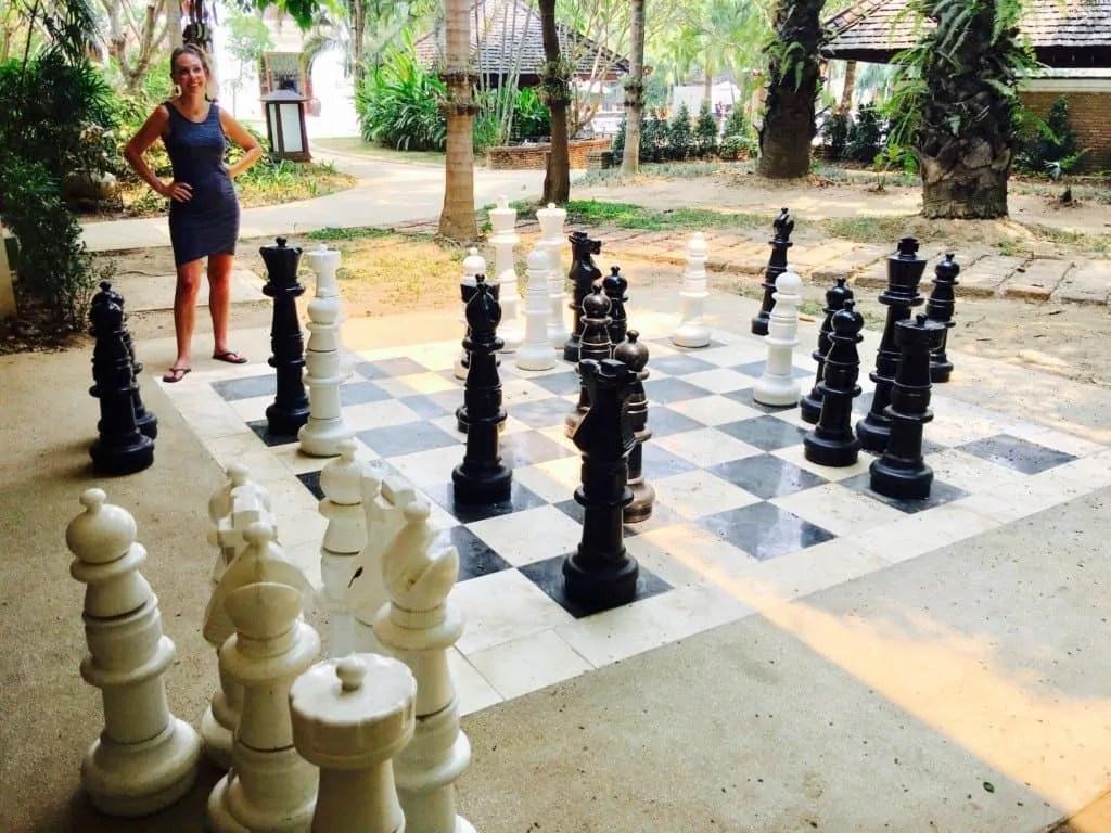 Large chess game at Shangri-la Chiang Mai
