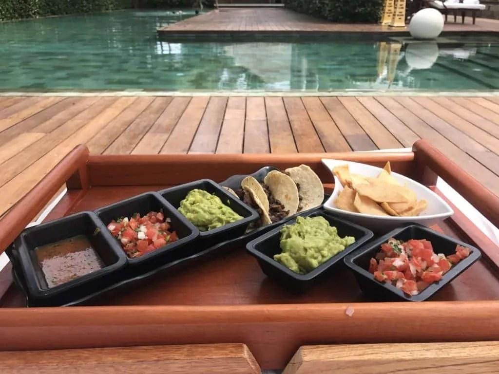 poolside tacos at Grand Velas Riviera Maya