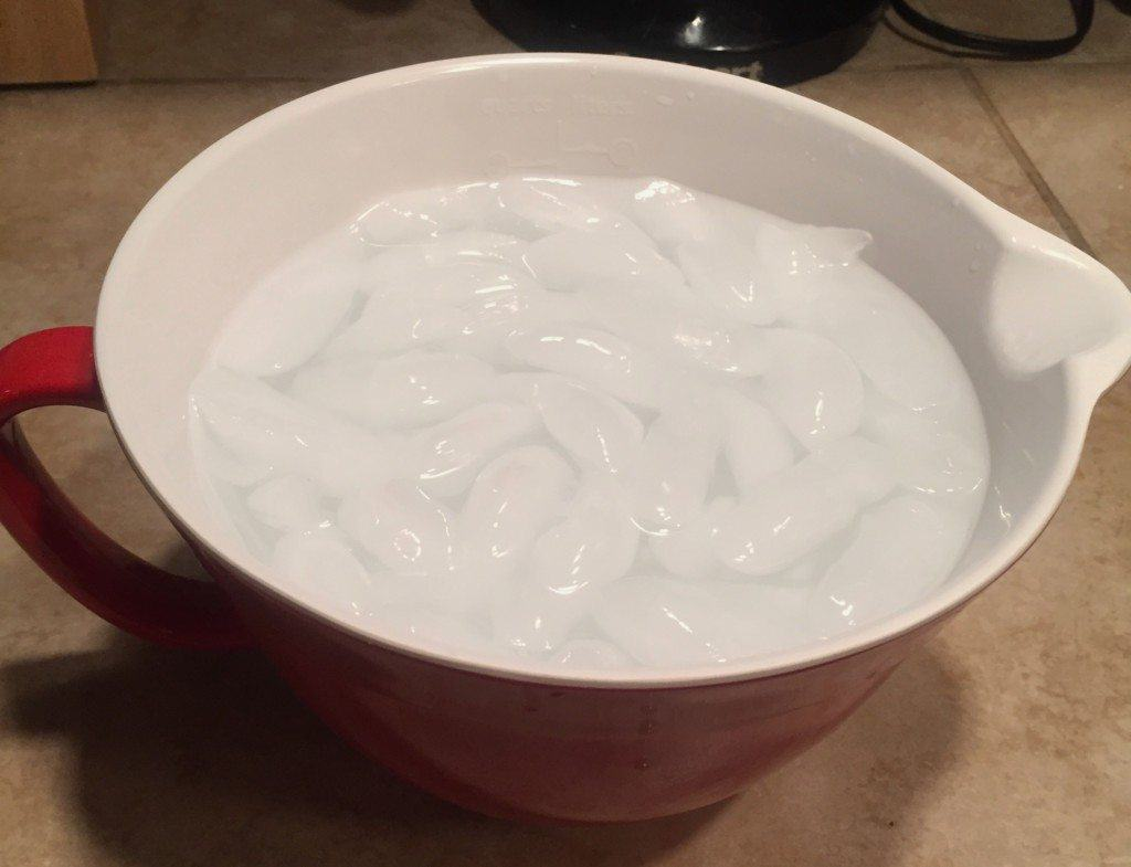 Give yourself an ice facial
