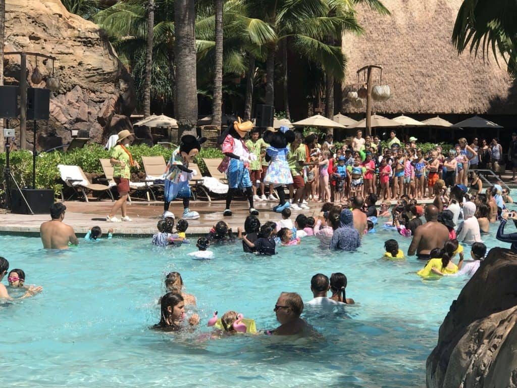 Aulani pool party