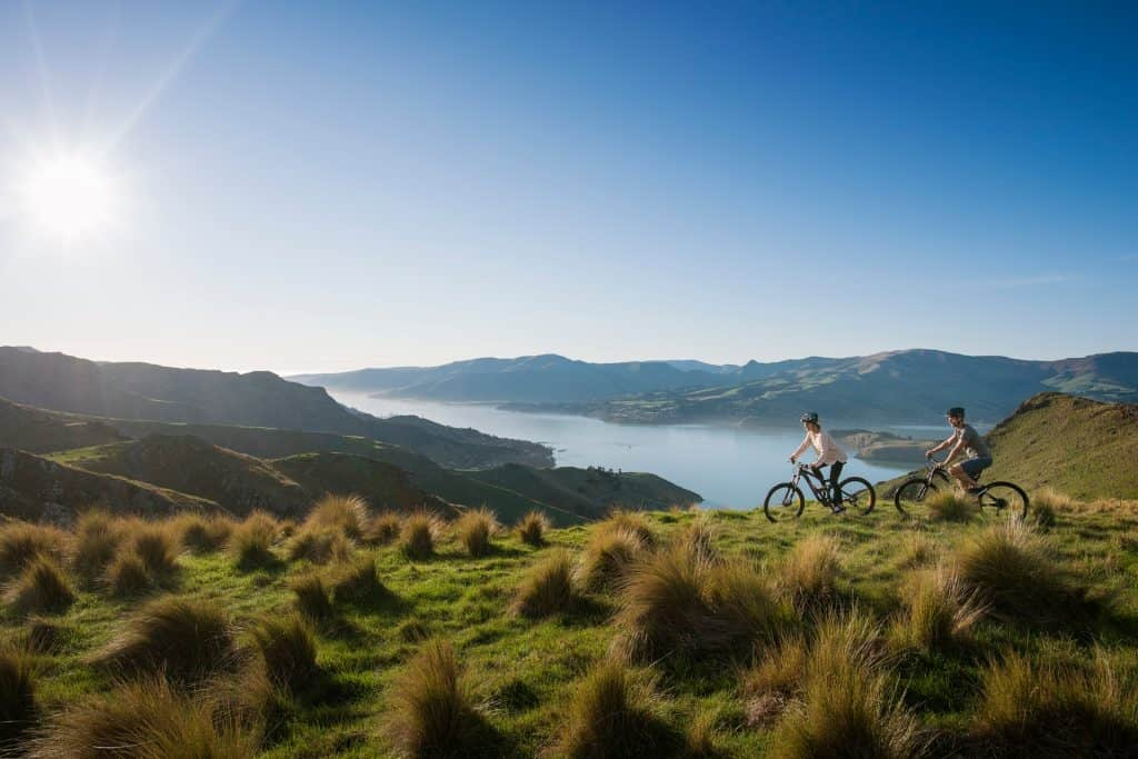 Port Hills in Christchurch, New Zealand