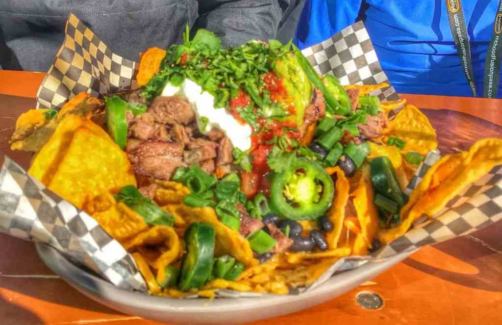Loaded nachos at Timberline Lodge