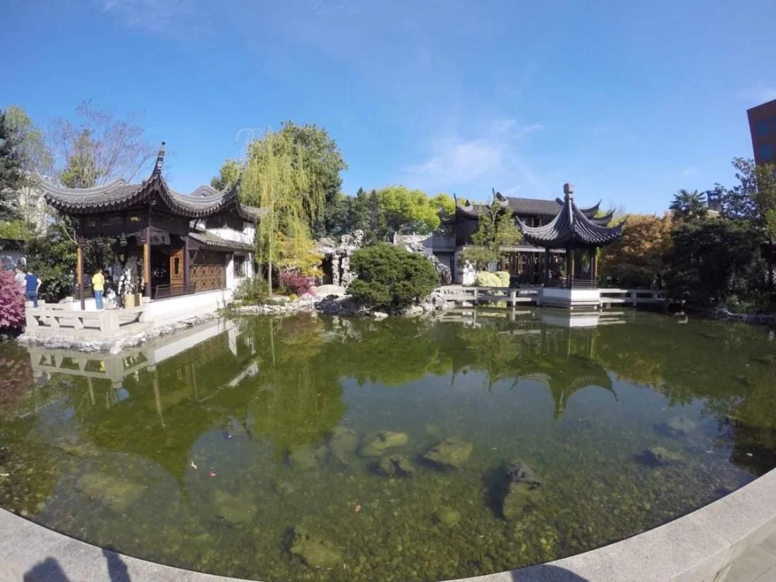 Chinese garden in Portland