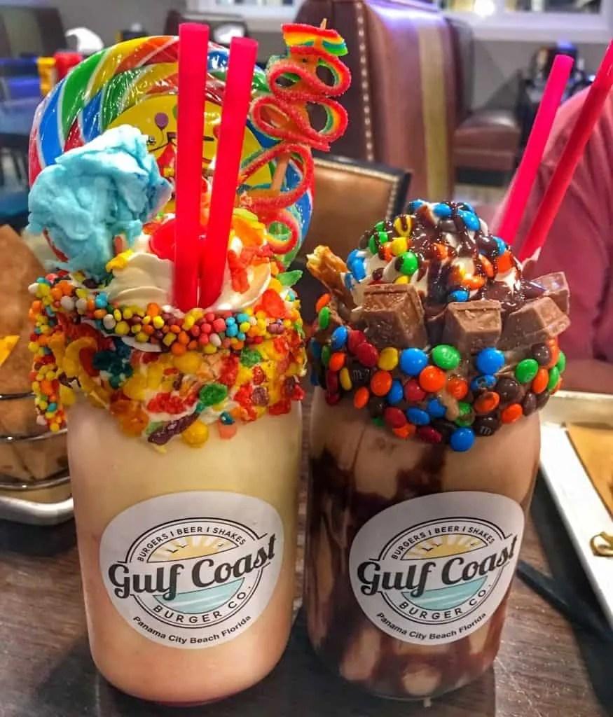 Milkshakes at the Gulf Coast Burger Co.