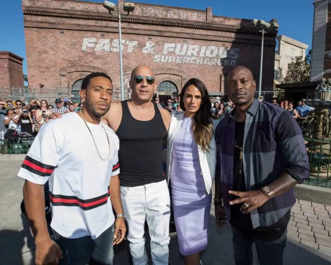 Vin Diesel, Ludacris, Tyrese Gibson and Jordana Brewster