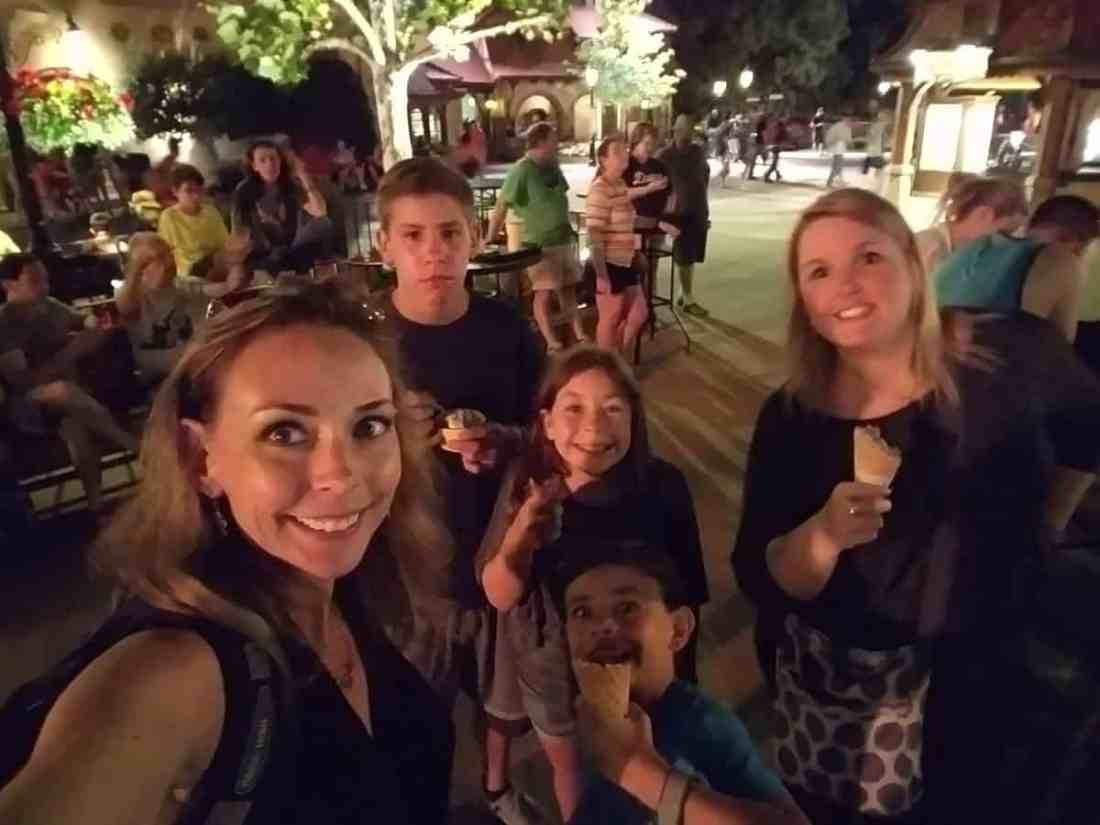 Ice cream at Epcot