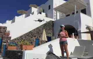 Flying the DJI Mavic Pro drone in Santorini Greece