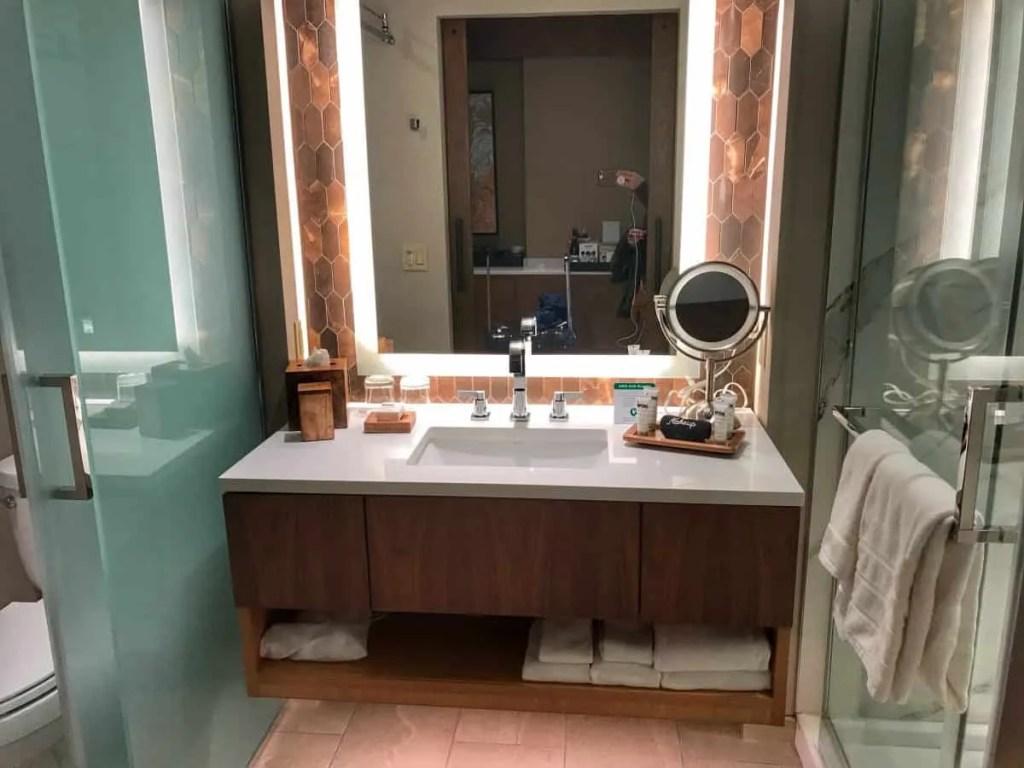 The Porter hotel bathroom.