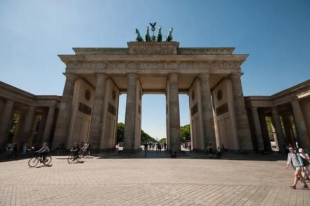 Brandenburg Gate part of the Berlin Wall