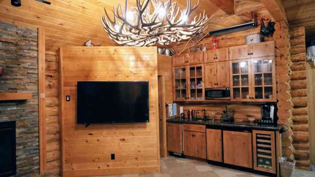 Cabin's Kitchenette at Silvies Valley Ranch