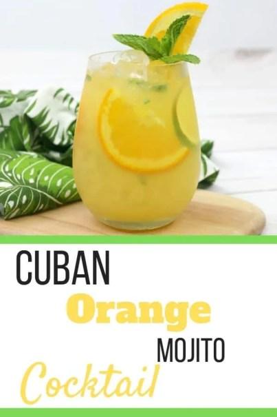 Cuban Orange Mojito cocktail recipe