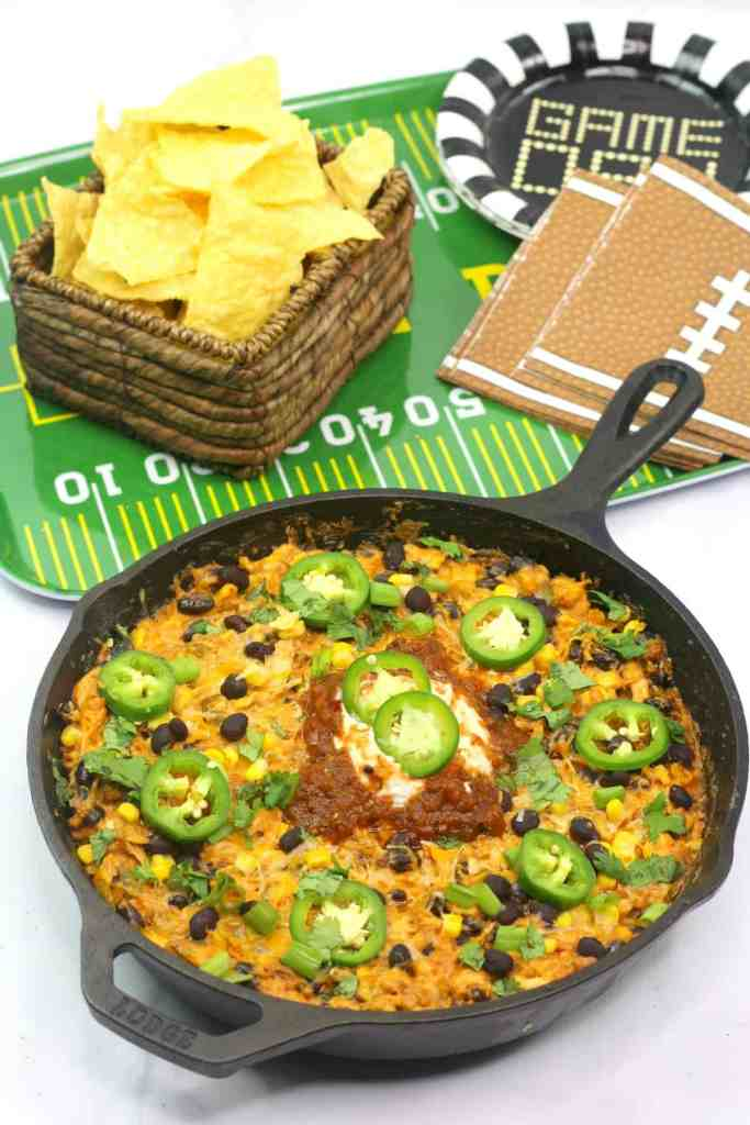 How to make chicken enchilada dip