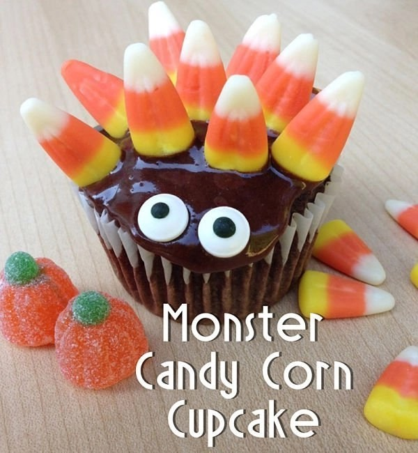 Monster Candy Corn Cupcake