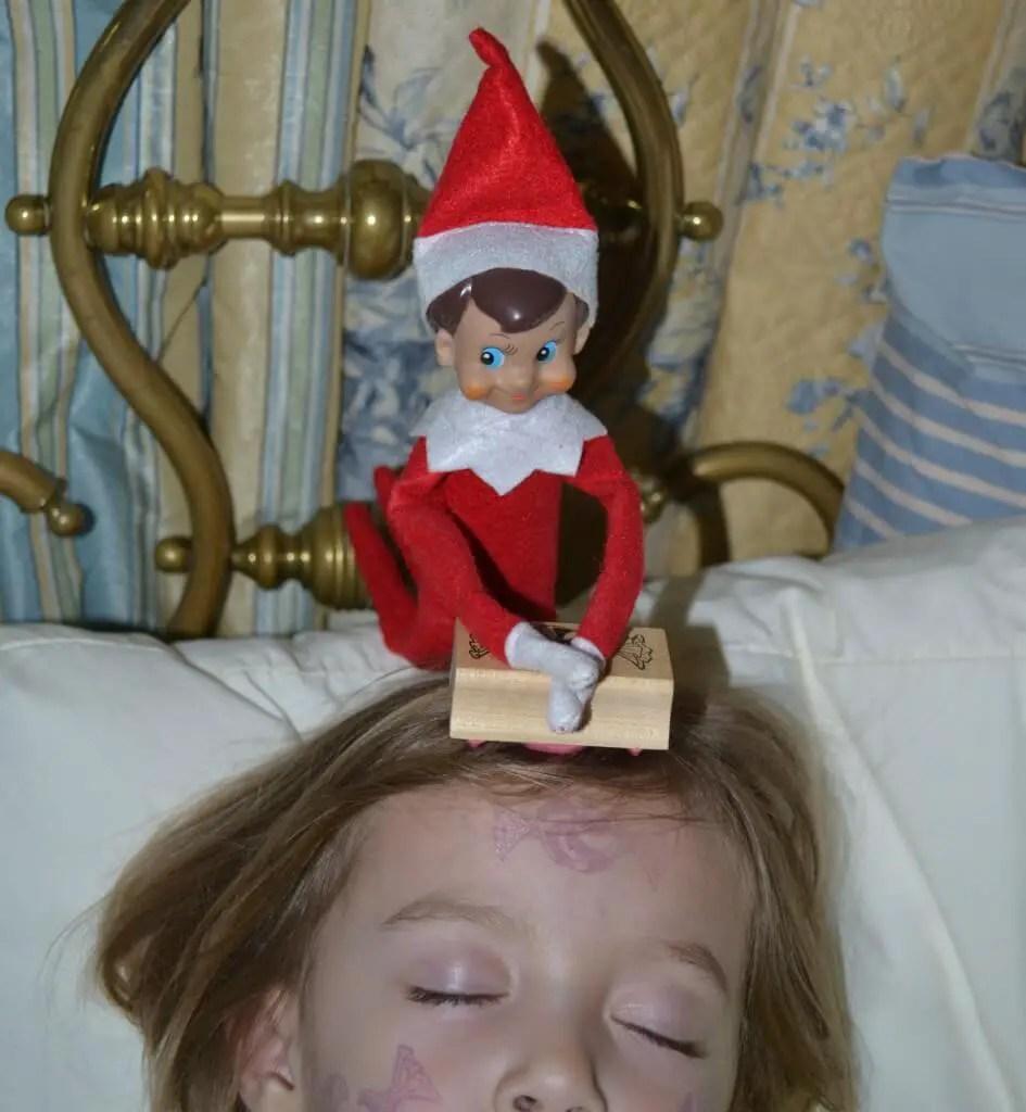 Elf On Shelf Stamps Face