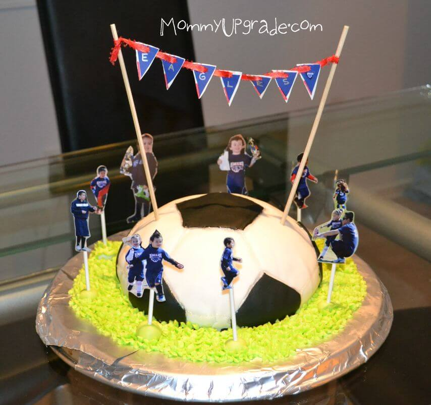 How to make a soccer ball cake