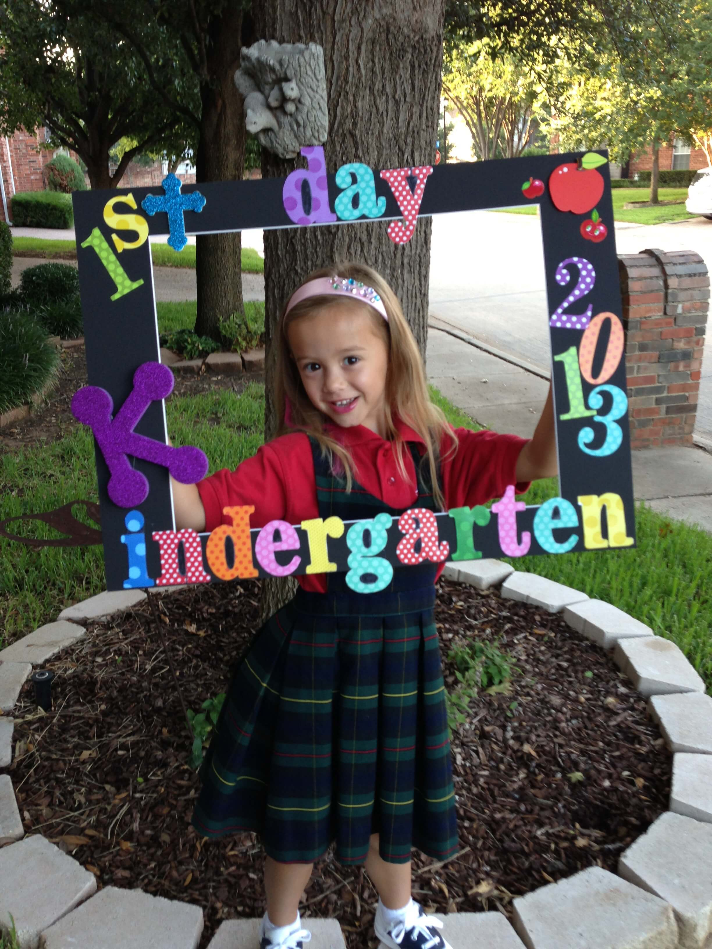 Back To School First Day Photo Frame