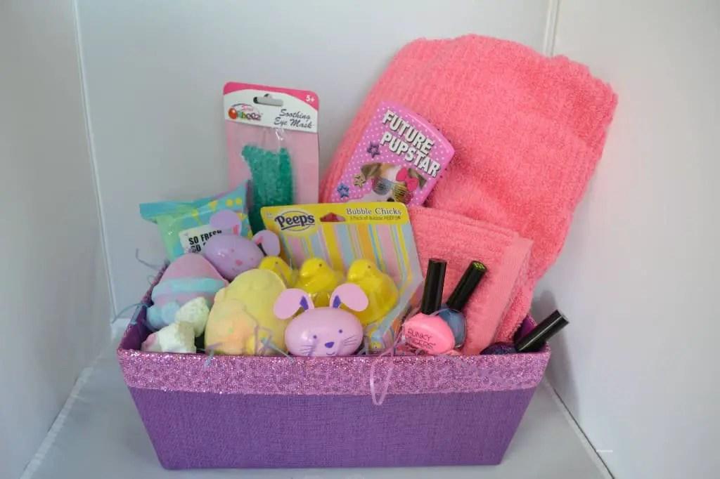 No candy spa theme easter basket ideas spa theme easter basket ideas negle Image collections