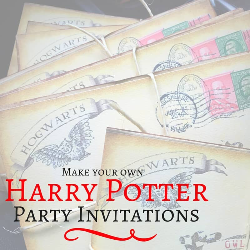 Harry Potter Party Invitations Birthday Themes