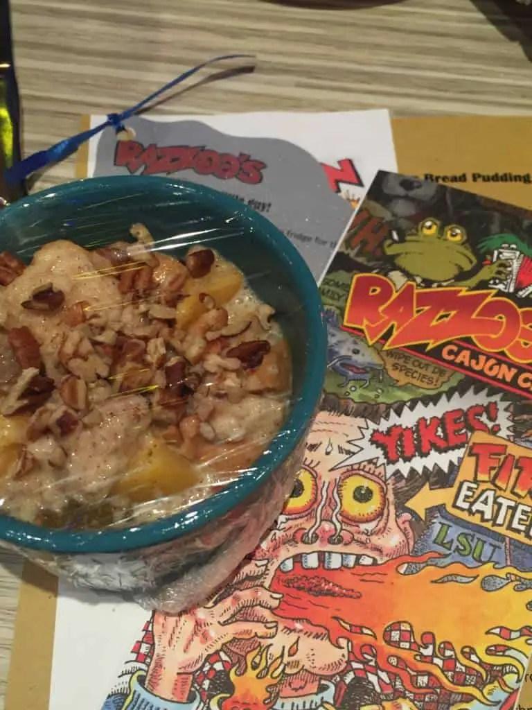 Razoo's peach and pecan bread pudding recipe