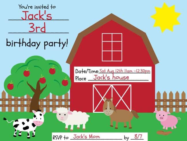 a barnyard birthday party momof6
