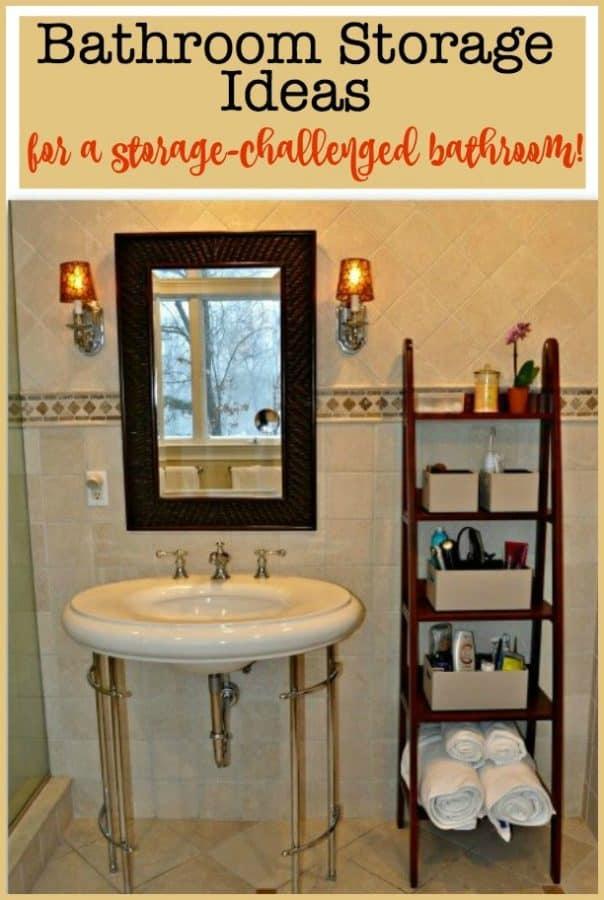 storage challenged bathroom
