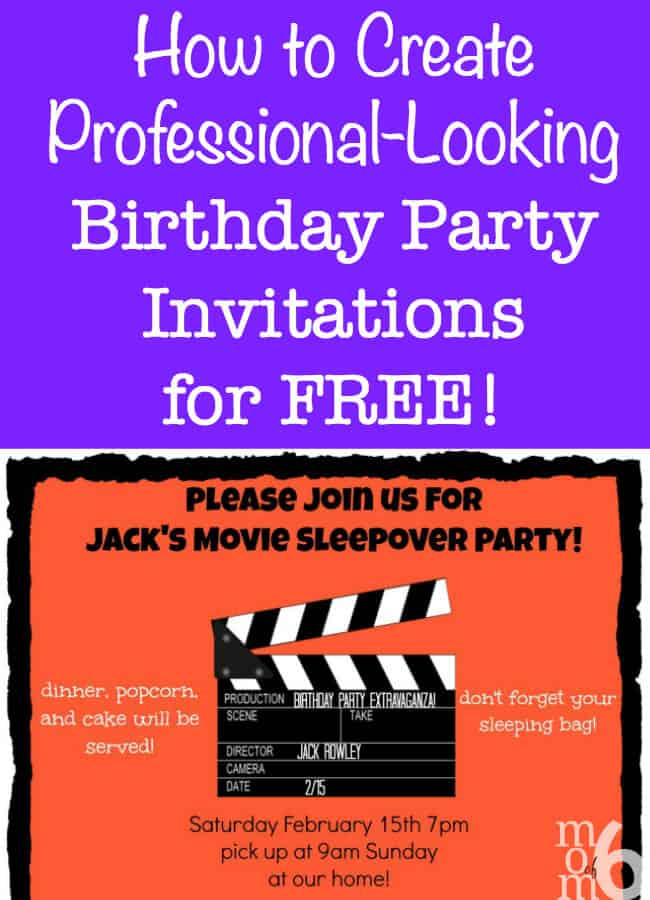 create my own party invitations for free