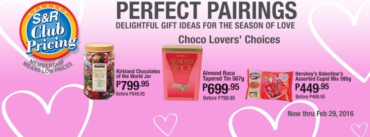 Treat your kids this Valentine's month by bringing home a pack of V-day themed chocolates!