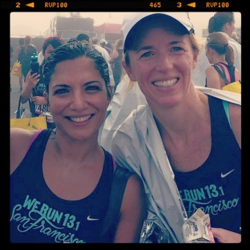 With sole-sister/friend Katie after the Nike Women's Half-Marathon in San Francisco October 2014