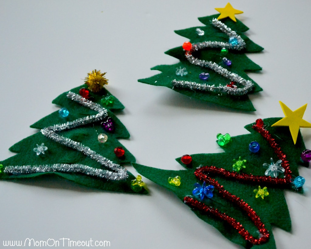 Candy Cane Christmas Trees Craft