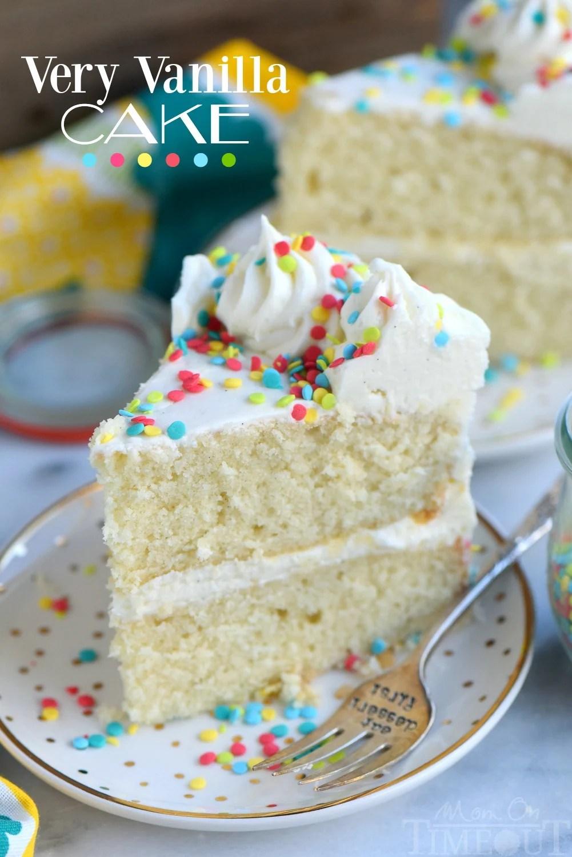 Very Vanilla Cake Mom On Timeout
