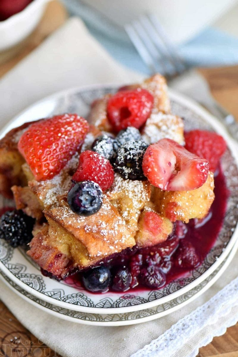 Triple Berry French Toast Casserole  Mom On Timeout