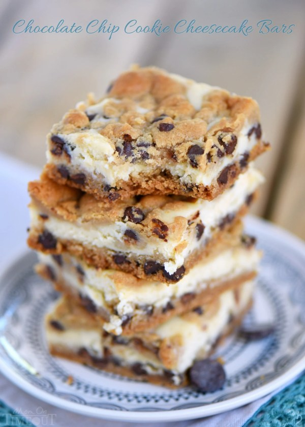 Chocolate Chip Cookie Cheesecake Bars Mom On Timeout