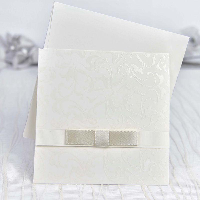Invitacin de boda sencilla y elegante
