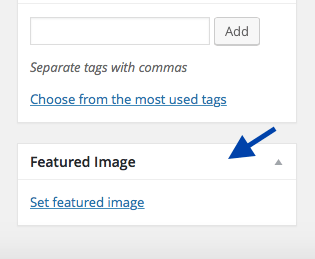 how to add featured image