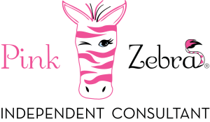 Pink Zebra Consultant on sponsor decals