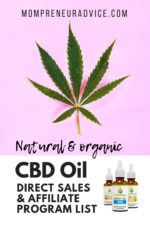 Natural & organic CBD oil direct sales & affiliate program list - 2019 - MompreneurAdvice.com