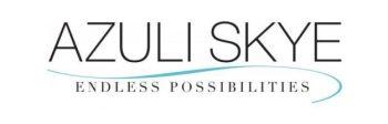 """Photo of the Azuli Skye logo that says """"Azuli Skye endless possibilities""""."""