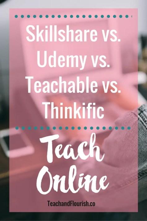 Where to teach online | Skillshare vs. Udemy vs. Teachable vs. Thinkific