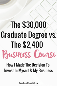 The 30K Graduate Degree vs. The 2K Business Course