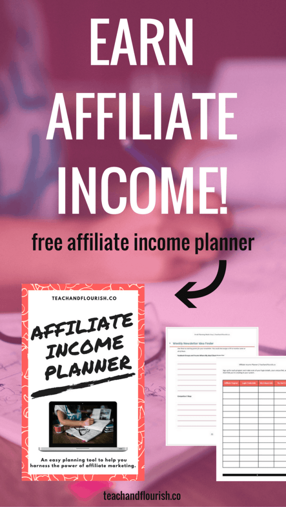 Have you been trying to figure out how exactly to create passive income in your business? Making money  by promoting affiliate products is one of the most popular ways to do this. Download my free affiliate income planner and let me show you how I do it. Click through to get the planner.
