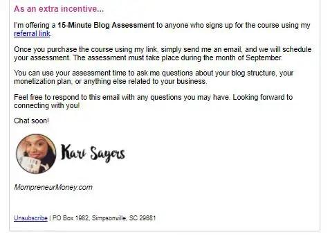affiliate marketing training ads snapshot