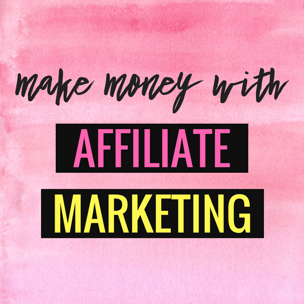 Make money with affiliate marketing.