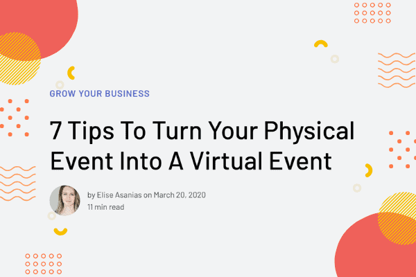 Turn a physical event into a virtual event