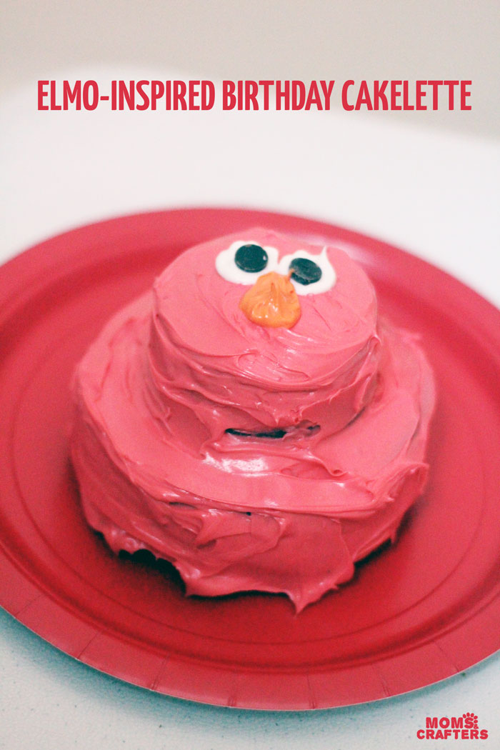 Elmo Birthday Cake Cakelettes Moms And Crafters